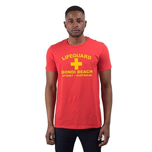 Herren Lifeguard Bondi Beach Sydney Australia Surfer Beach Kostüm T-Shirt Rot - Lifeguard Kostüm Herren