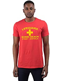 T-shirt pour Hommes Morif 'Lifeguard Bondi Beach Sydney Australia'