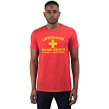 Men's Lifeguard Bondi Beach Sydney Australia Surfer Beach Fancy Dress T Shirt