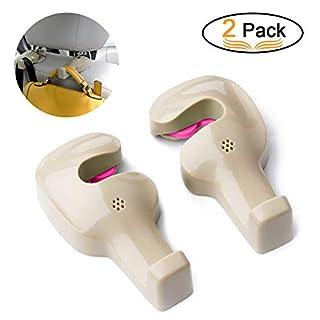 Auto Haken, Fahrzeug Rücksitz Haken Aufhänger, Autozubehör, Universal Kopfstütze Kleiderbügel für Lebensmittel Kleidung Tasche Handtasche-2 Pack