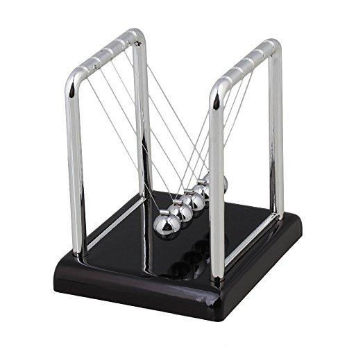 Preisvergleich Produktbild BQLZR Leicht Newtons Wiege Stahl Gleichgewicht Kugeln Physik Wissenschaft Pendel