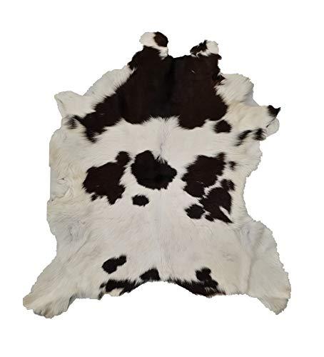 Cow hide Alfombra de Piel de Vaca, Piel auténtica para esconder la Piel Natural de los Animales, Color Azul