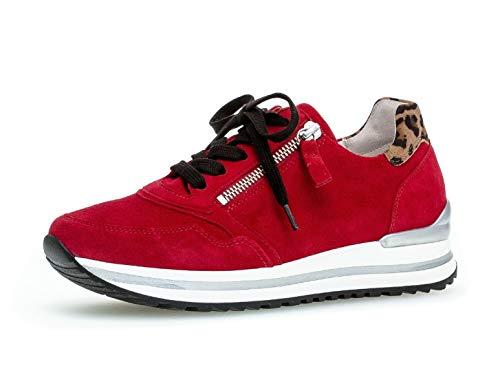 Gabor Damen Sport-Halbschuh 36.528, Frauen Low-Top Sneaker,Halbschuh,Schnürschuh,Strassenschuh,Business,Freizeit,Rubin/savanne,38.5 EU / 5.5 UK