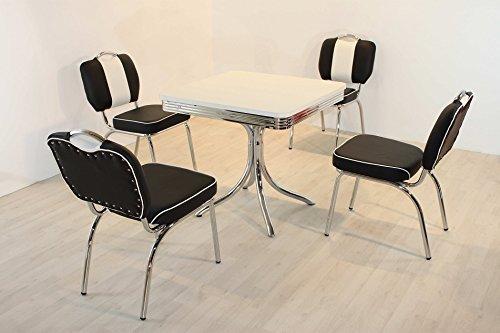"""moebelstore24 Bistrotisch King 7\"""" Retro American 50s Dinertisch Tisch"""
