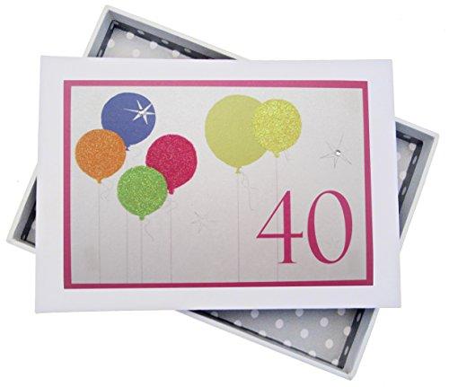 White Cotton Cards–Álbum Fotos diseño 40cumpleaños