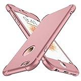 ORETECH Coque iPhone 6 Plus / 6s Plus, avec [2 x Protecteur D'écran en Verre Trempé] iPhone 6/6s Plus Housse Hybride Antichoc Ultra Mince Mat Anti-Rayures PC+TPU pour iPhone 6 Plus Case 5.5'' Or Rose
