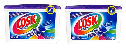 Persil / Losk Color Duo-Caps, 2er Pack, 120 WL (2 x 60 Waschladungen)