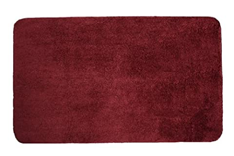 J & M Home Fashions Mikrofaser Bad Teppich, Cabernet, 20-Inch by 33-Inch