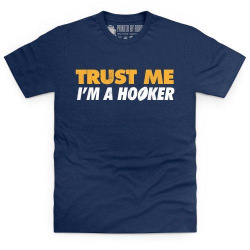Trust a Hooker T-Shirt, Herren Dunkelblau