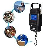 Li-Meiqun,Grip scale, Elektronische Waage mit Lineal, Präzisions-Handwaage, Mini Pocket Digital Travel Koffer Gepäck Fischschuppen
