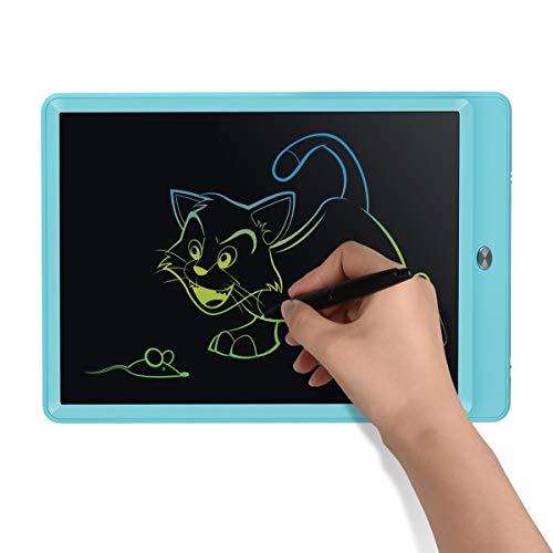 Upgrow LCD Writing Tablet, 10 Zoll LCD-Schreibtafeln mit Bunter Schrift, Grafiktabletts Schreibplatte Digital Schreibtafel Papierlos Maltafel für Kinder Schule Graffitik Malen Notizen