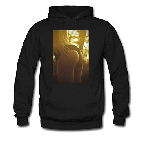 weileDIY Sexy Girls DIY Custom Classic Women Hoodie Sweatshirt Black_A