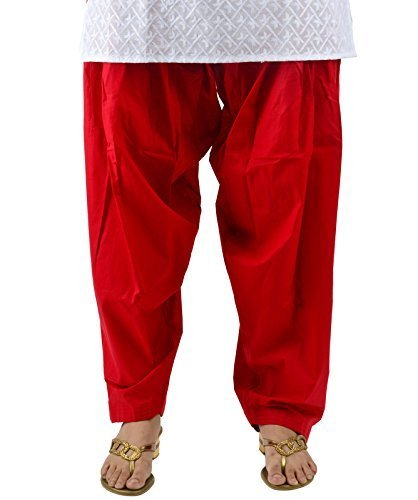 Kalpit Creations Women's Cotton Salwar (Red_Free Size)
