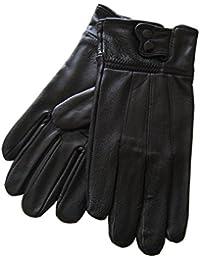 Gants homme cuir noir chaud L/XL/XXL idée cadeau !