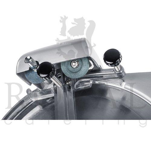 Royal Catering - RCAM 220PRO - Aufschnittmaschine - 0 bis 12 mm - 120 W - Ø 22 cm - Messerschärfeinheit - PRO Serie -