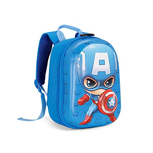 ZLL Marvel Boys Captain America Shield Rucksack Sicherheitsgurt, um zu verhindern, DASS Kinder vermisst Werden (Color : Light Blue) (Captain America-shield Kinder)