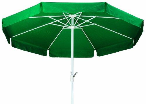 Schneider Sonnenschirm Pisa, grün, 300 cm rund, Gestell Aluminium/Stahl, Bespannung Polyester, 5.4 kg
