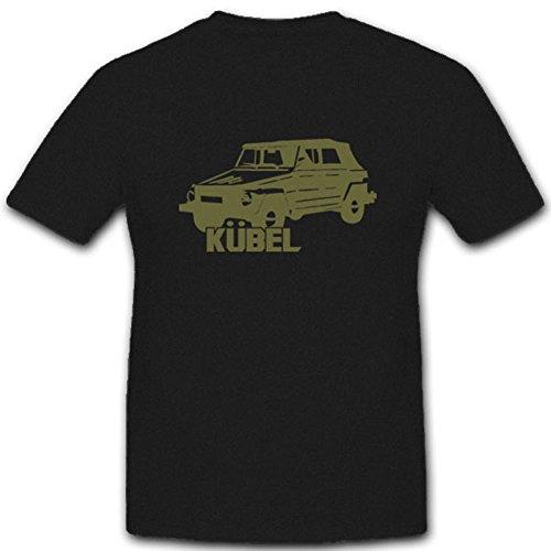 Copytec Kübel Typ 181 Bundeswehr Fahrzeug Wh Armee BW Militär Pkw - T Shirt #4950, Farbe:Schwarz, Größe:Herren L