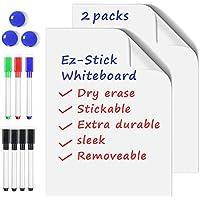 NEWYES Ez-Stick Whiteboard Tableros de Mensajes Borrado en seco Adecuado para Cualquier Superficie lisa (43 x 280 cm) x 2