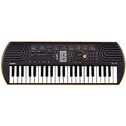 Casio 781071 SA-76 - Teclado electrónico (44 teclas mini, 100 tonos, 50 ritmos), color negro