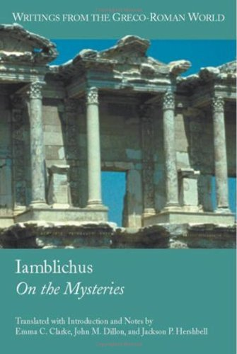 Iamblichus: On the Mysteries (Writings from the Greco-Roman World, V. 4.) by Emma C. Clarke (2003-11-01)
