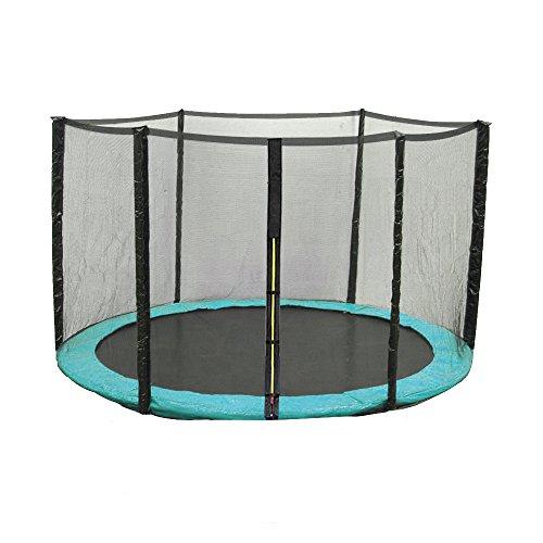 Greenbay Grün Trampolin Randabdeckung Federabdeckung Randschutz Abdeckung mit Schwarz Sicherheitsnetz Netz Fangnetz | 305cm für 8 Stangen Trampolin