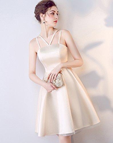 Erosebridal Trägerlos Kurz Ballkleid Harness Brautjungfer Kleid Abendkleid Rosa