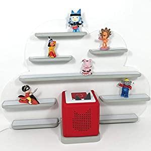Ideale Aufbewahrung für die Tonie Box und die Tonie Figuren, Musikbox, Wolke weiß matt, Wolkenregal, Regal für die wohl beliebteste Box aller Zeiten, Kinderzimmer Regal, Deko Board