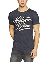Tommy Hilfiger Mens T-Shirt (8907504804467_A7ATK255_X-Large_Black Iris)
