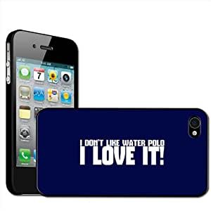 "Fancy A Snuggle Inscription ""I don't like water polo, I love it!"" Coque rigide à clipser pour Apple iPhone 4/4S"