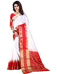 Nirja Creation Cotton Silk Saree With Blouse Piece (NC-OD-LTS2-1_White_Free Size)