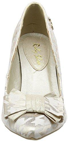 Ruby Shoo Jenna Damen Pumps Gold (Cream/Gold)