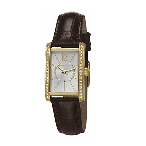 Montre mixte adulte Pierre Cardin Quartz- Affichage Date Standard bracelet Cuir Marron et Cadran Argent PC106562F09