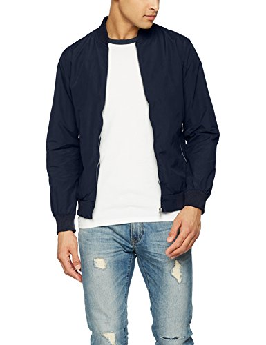 JACK & JONES Herren Bomberjacke Jornew Pacific Bomber, Blau (Total Eclipse Total Eclipse), Small