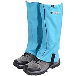 Triwonder Snow Leg Gaiters Polainas de arranque impermeable Senderismo Walking Climbing Caza de ciclismo Leggings Cover (1 par) (Azul, M)