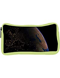 Snoogg Eco Friendly Canvas Earth Filled With Water Designer Student Pen Pencil Case Coin Purse Pouch Cosmetic...