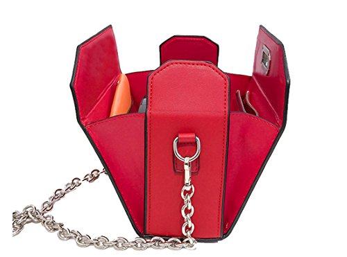 CHAGME, Borsa tote donna Red