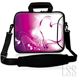 "13,3 LSS ""Sleeve Bolso para ordenador portátil con bolsillo adicional, maletín, flexible y cómoda extraíble para 12"" 12,1"" 13"" 13,3"" MacBook Air, GW, Acer, Asus Aspire, Dell, HP, Sony, Toshiba, Samsung-corazón, color rosa"