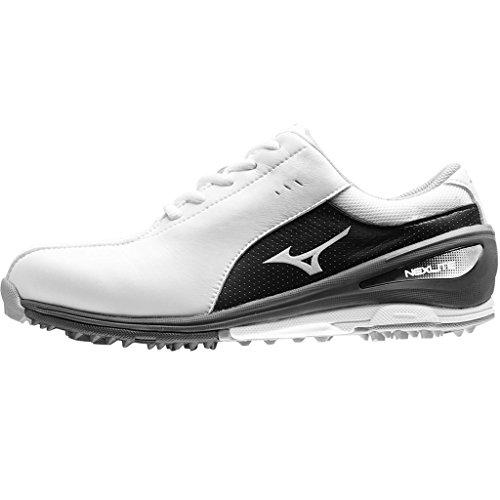 Ladies 2017 Mizuno NEXLITE SL Ultra-Light Spikeless Womens Golf Shoes - Waterproof - White/Black 9.5UK