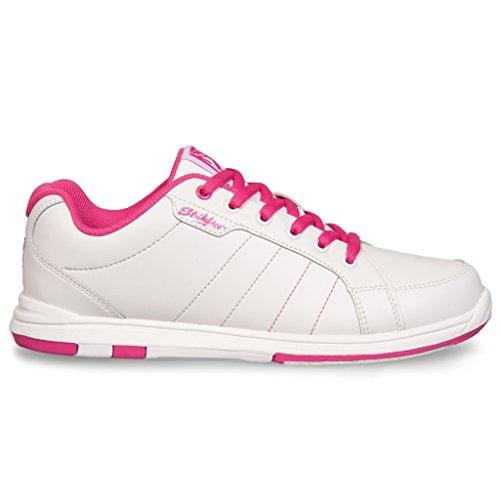 KR Strikeforce Damen Satin Bowlingschuhe, 91/2M US, Weiß/Hot Pink