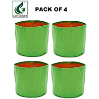 """Terrace Gardening HDPE Grow Bags for Vegetable Plants (18""""x18"""" Inches) - [45cms(L) X 45cms(H)] - Pack of 4"""