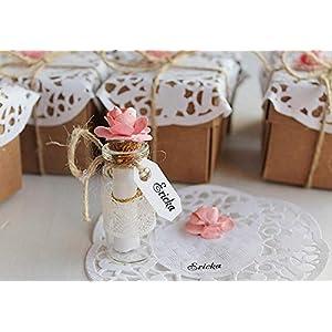 Pfirsich-Brautjungfern-Geschenk, seien Sie mein Blumenmädchen, Brautjungfern-Partei laden ein, fragen Sie Trauzeugin, Mitteilung in einer Flasche mit Brautjungfern-Geschenkbox