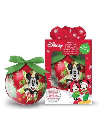 Generique - Boule Lumineuse Mickey 7,5 cm Noël