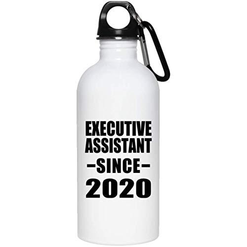 Designsify Executive Assistant Since 2020-20oz Water Bottle Wasserflasche Edelstahl Isoliert Thermosflasche - Geschenk zum Geburtstag Jahrestag Muttertag Vatertag Ostern -