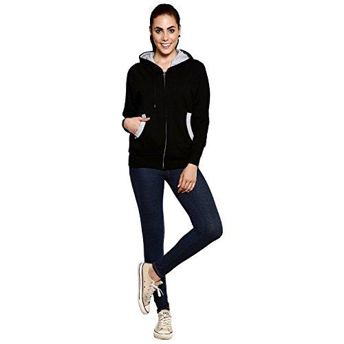 Goodtry Women's Cotton Hoodies-BlackGTWH-029-BLK-XL
