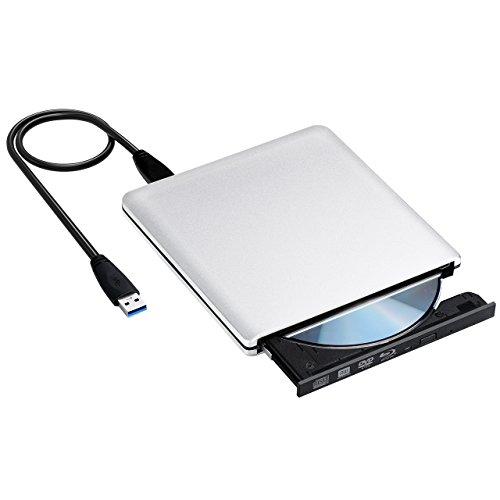 VicTsing Masterizzatore Blu-ray Esterno USB 3.0, Lettore Blu-ray Unità CD DVD Blu-ray Portatile, Design per Laptop, Netbook e Desktop, Sistemi Windows XP / 2003 / Vista / 7 / 8.1 / 10, Linux e Mac10
