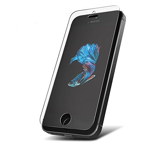 Pellicola in Vetro Temperato 9H per iPhone SE / 5S / 5C / 5 ** Antigraffio & Anti Urto ** Senza bolle d'aria ** Formato preciso ** Pellicola Protettiva UTECTION® Trasparente