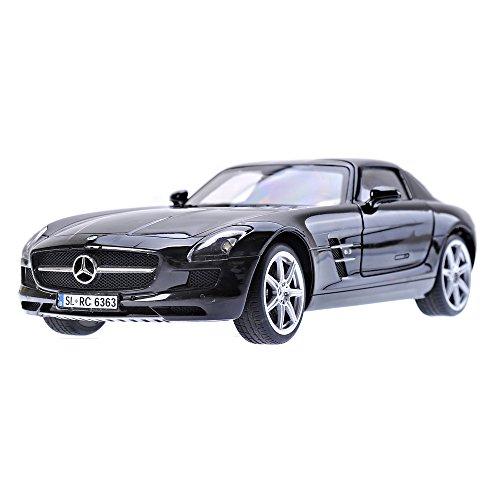 Silverlit - Modellino Mercedes-Benz SLS AMG I-Connect Bluetooth Supercar con Sound System, scala: 1:16, colore: Nero [importato da UK]
