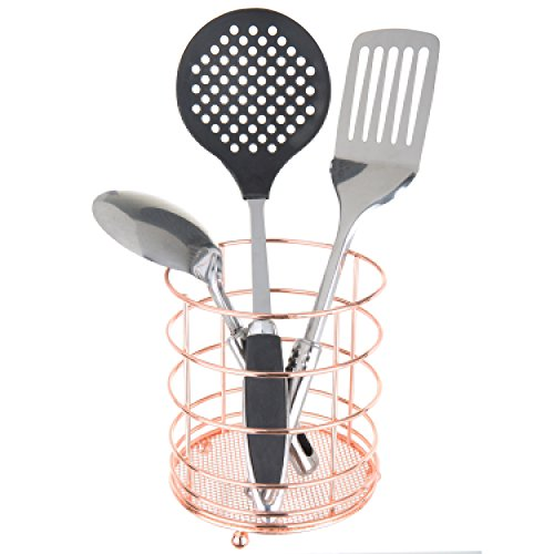 MyGift moderner Küchenutensilienhalter aus Draht, kupferfarben