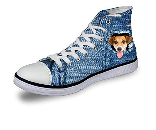 Blue Jane Cat Dog Women Girls Fashion High Top Canvas Trainers Plimsolls Shoes pattern5 C3305AK EU 39 (Dillards Schuhe Für Frauen)